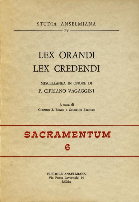 Lex orandi – lex credendi