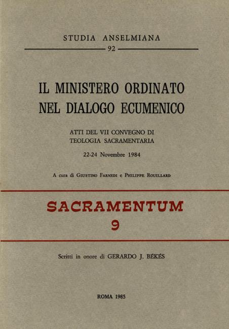 Il ministero ordinato nel dialogo ecumenico