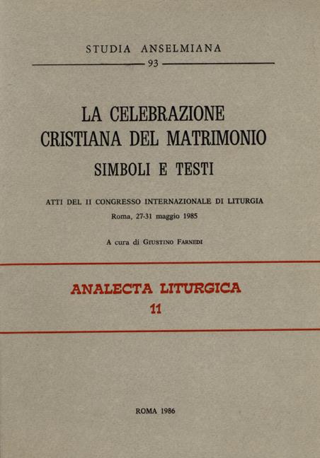La celebrazione cristiana del matrimonio