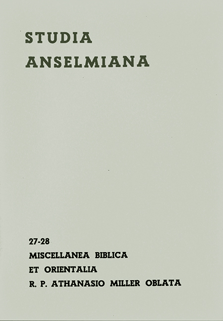 Miscellanea biblica et orientalia