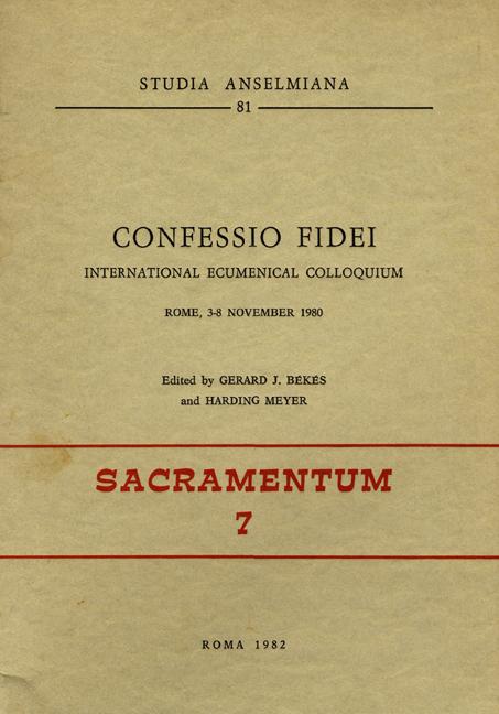 «Confessio fidei»
