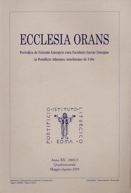 Ecclesia Orans 20 (2003/2)