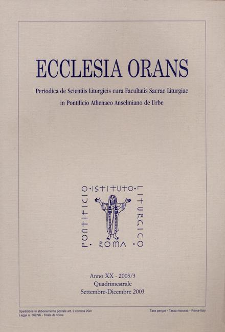 Ecclesia Orans 20 (2003/3)