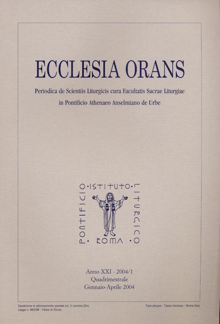 Ecclesia Orans 21 (2004/1)