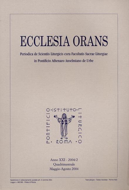 Ecclesia Orans 21 (2004/2)