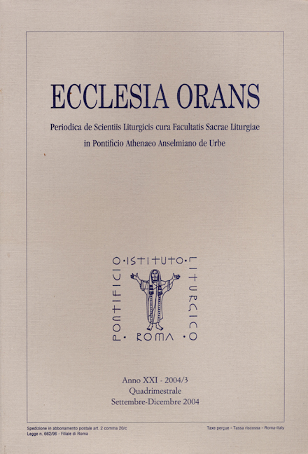 Ecclesia Orans 21 (2004/3)