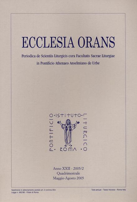 Ecclesia Orans 22 (2005/2)
