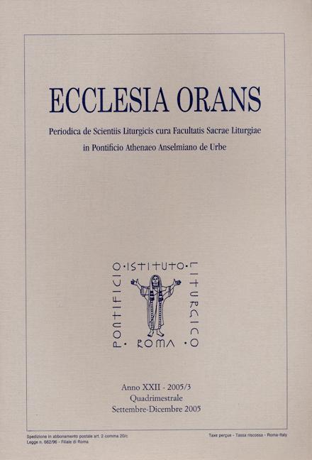Ecclesia Orans 22 (2005/3)
