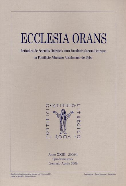Ecclesia Orans 23 (2006/1)