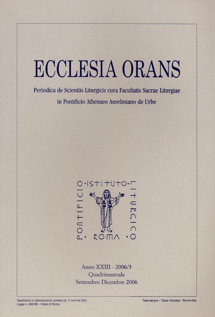 Ecclesia Orans 23 (2006/3)