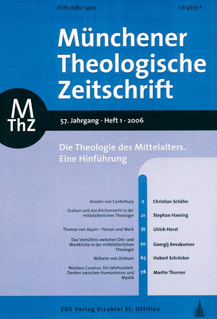 Münchener Theologische Zeitschrift 57 (2006/1)
