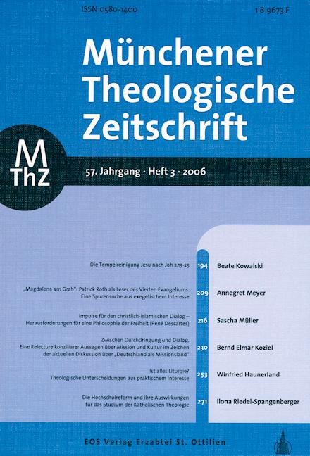 Münchener Theologische Zeitschrift 57 (2006/3)