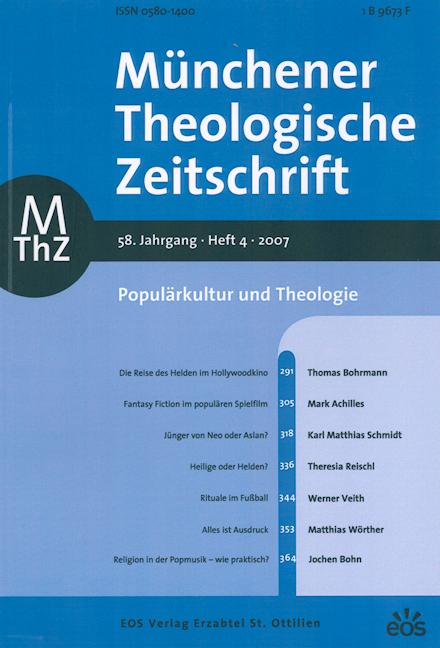 Münchener Theologische Zeitschrift 58 (2007/4)