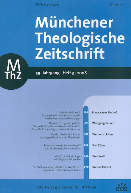 Münchener Theologische Zeitschrift 59 (2008/3)