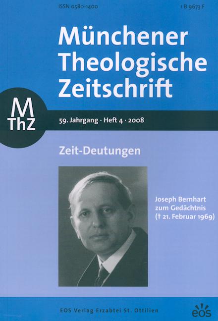 Münchener Theologische Zeitschrift 59 (2008/4)