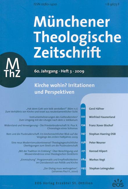Münchener Theologische Zeitschrift 60 (2009/3)