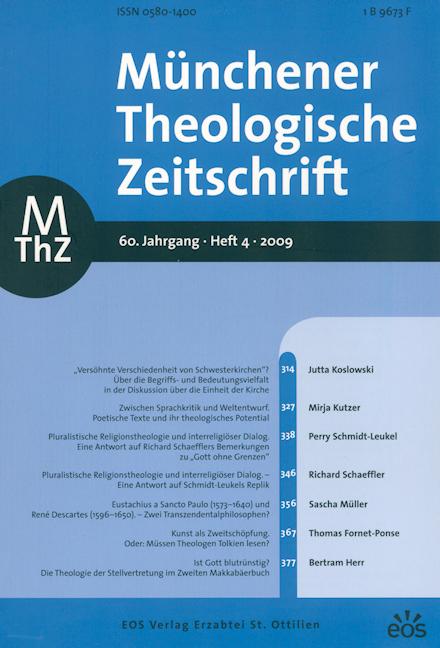 Münchener Theologische Zeitschrift 60 (2009/4)