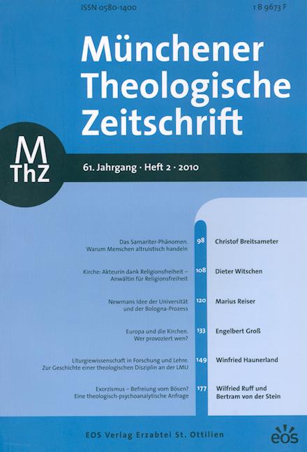 Münchener Theologische Zeitschrift 61 (2010/2)