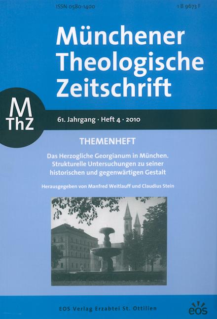 Münchener Theologische Zeitschrift 61 (2010/4)
