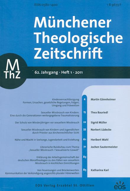 Münchener Theologische Zeitschrift 62 (2011/1)