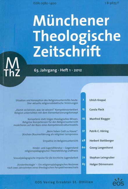 Münchener Theologische Zeitschrift 63 (2012/1)