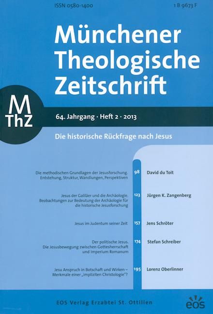 Münchener Theologische Zeitschrift 64 (2013/2)