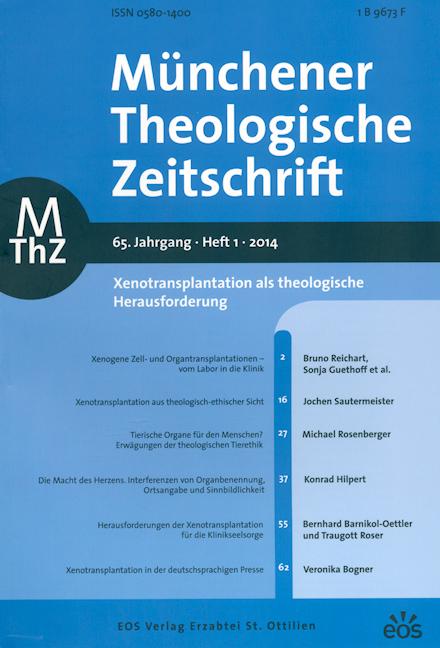 Münchener Theologische Zeitschrift 65 (2014/1)