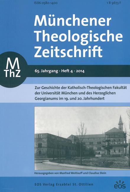 Münchener Theologische Zeitschrift 65 (2014/4)