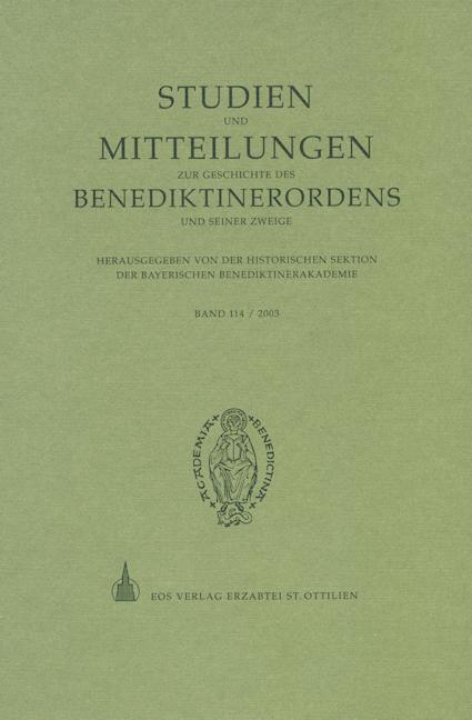 Studien und Mitteilungen zur Geschichte des Benediktinerordens 114 (2003)