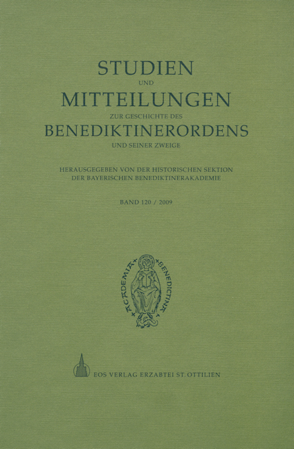 Studien und Mitteilungen zur Geschichte des Benediktinerordens 120 (2009)