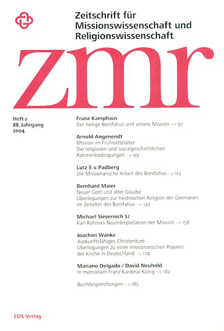 Zeitschrift für Missionswissenschaft und Religionswissenschaft 88 (2004/2)