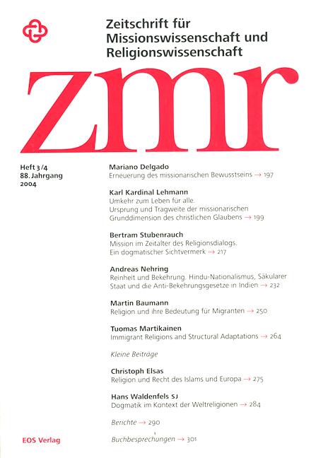 Zeitschrift für Missionswissenschaft und Religionswissenschaft 88 (2004/3-4)