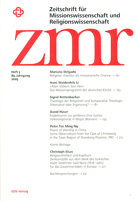 Zeitschrift für Missionswissenschaft und Religionswissenschaft 89 (2005/3)