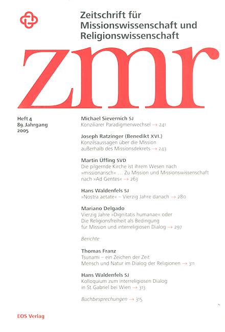 Zeitschrift für Missionswissenschaft und Religionswissenschaft 89 (2005/4)