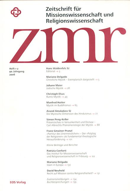 Zeitschrift für Missionswissenschaft und Religionswissenschaft 90 (2006/1-2)