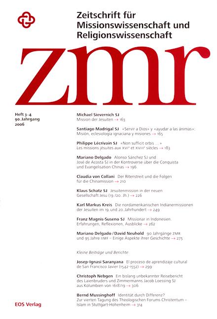 Zeitschrift für Missionswissenschaft und Religionswissenschaft 90 (2006/3-4)