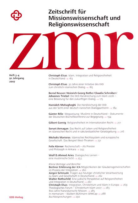 Zeitschrift für Missionswissenschaft und Religionswissenschaft 91 (2007/3-4)