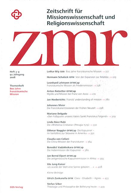 Zeitschrift für Missionswissenschaft und Religionswissenschaft 92 (2008/3-4)