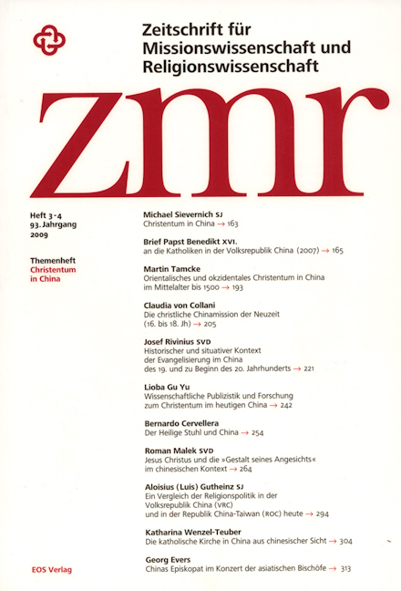 Zeitschrift für Missionswissenschaft und Religionswissenschaft 93 (2009/3-4)