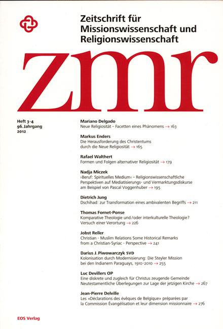 Zeitschrift für Missionswissenschaft und Religionswissenschaft 96 (2012/3-4)