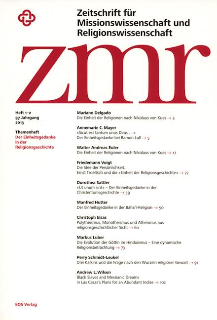 Zeitschrift für Missionswissenschaft und Religionswissenschaft 97 (2013/1-2)