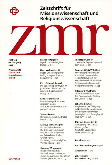 Zeitschrift für Missionswissenschaft und Religionswissenschaft 97 (2013/3-4)