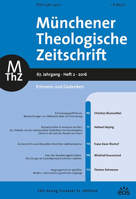 Münchener Theologische Zeitschrift 67 (2016/2)