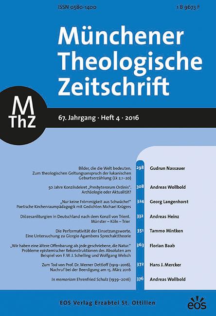 Münchener Theologische Zeitschrift 67 (2016/4)