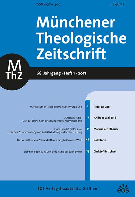 Münchener Theologische Zeitschrift 68 (2017/1)