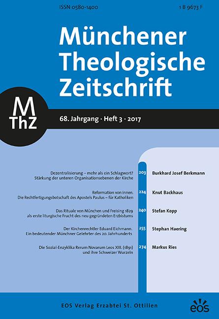 Münchener Theologische Zeitschrift 68 (2017/3)