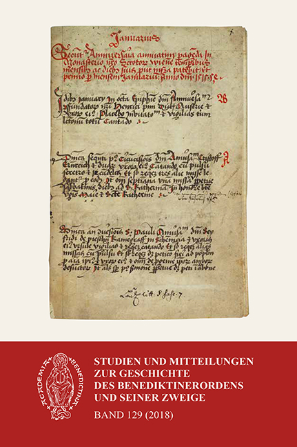 Studien und Mitteilungen zur Geschichte des Benediktinerordens 129 (2018)