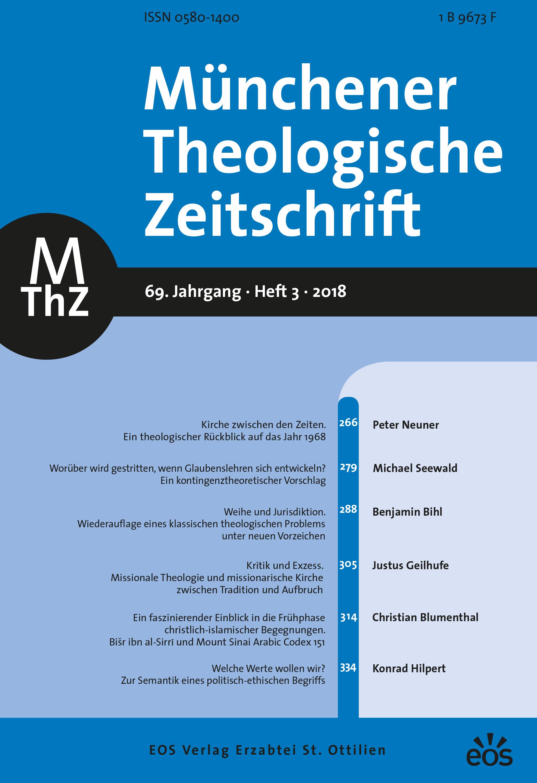 Münchener Theologische Zeitschrift 69 (2018/3)