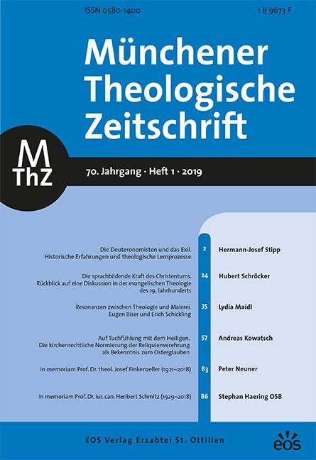 Münchener Theologische Zeitschrift 70 (2019/1)
