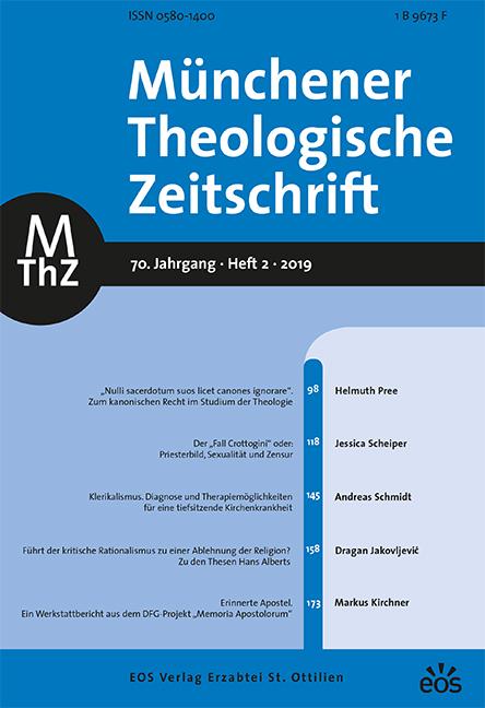 Münchener Theologische Zeitschrift 70 (2019/2)